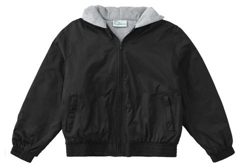 Classroom Unisex Adult Unisex Zip Front Bomber Jacket Black