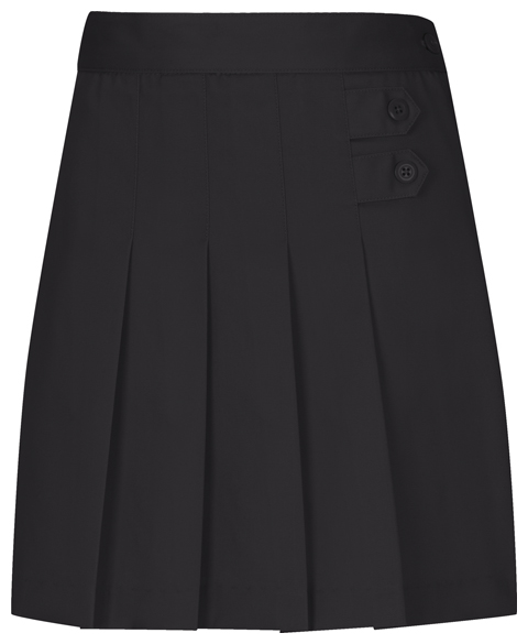 Classroom Girl's Girls Plus Pleated Tab Scooter Black