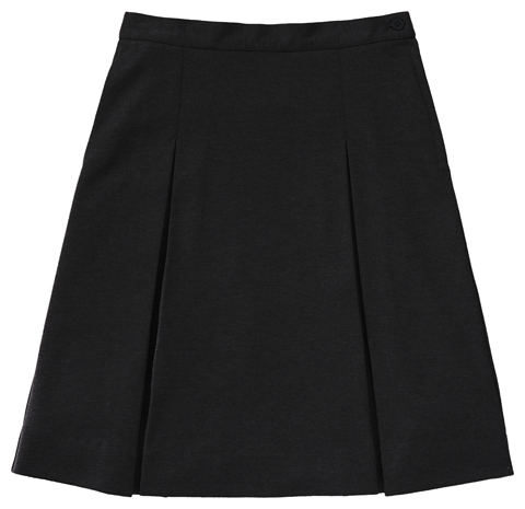 Photograph of Juniors Ponte Knit Kick Pleat Skirt