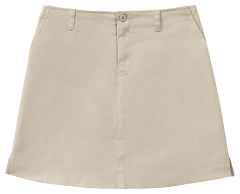 George Classroom Girl's Girls Stretch Fly Front Scooter Khaki
