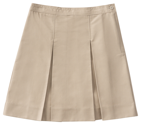 Classroom Uniforms Classroom Junior's Juniors Kick Pleat Skirt Khaki