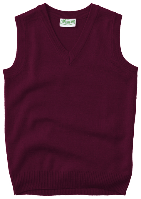 Classroom Uniforms Classroom Child's Unisex Youth Unisex V- Neck Sweater Vest Purple