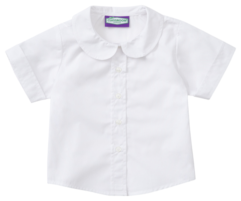 Photograph of Girls Short Sleeve Peter Pan Blouse