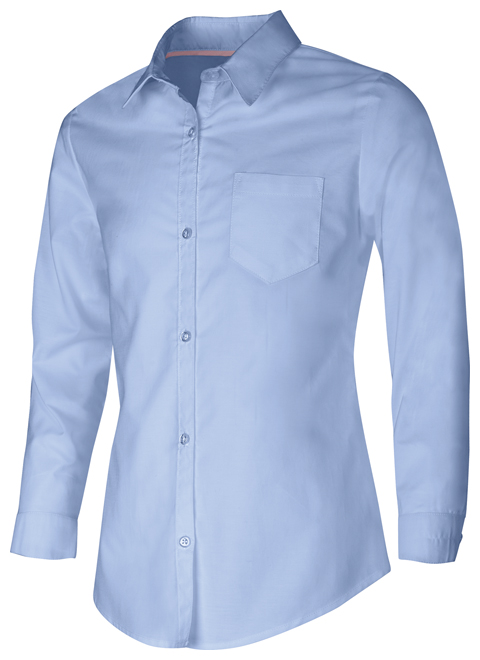 Photograph of Junior Long Sleeve Oxford Shirt