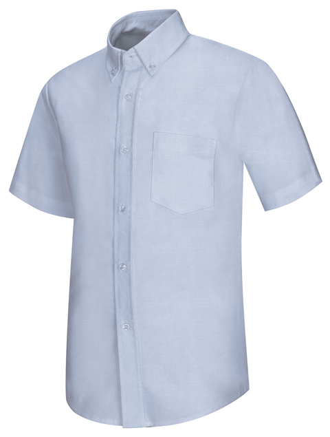 Classroom Uniforms Classroom Men's Men's Short Sleeve Oxford Shirt Blue