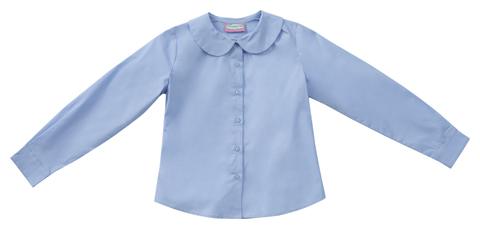 Photograph of Junior Long Sleeve Peter Pan Blouse