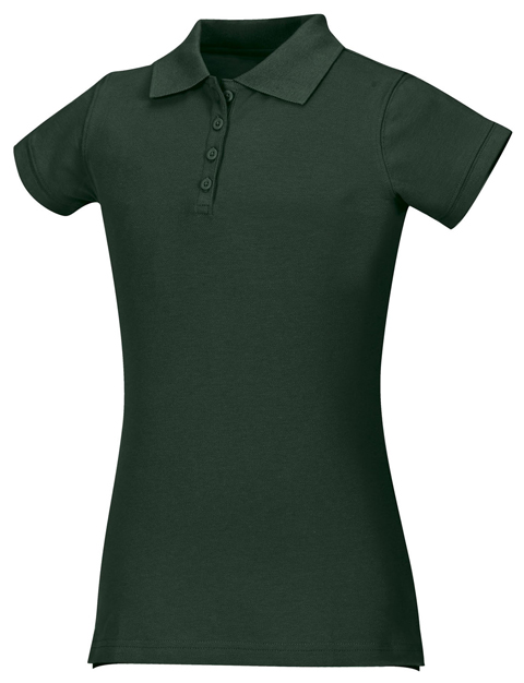 Classroom Girl's Girls Stretch Pique Polo Green