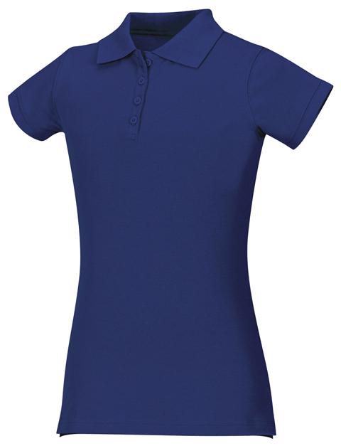 Classroom Girl's Girls Stretch Pique Polo Blue