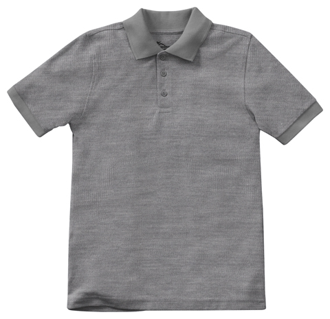Classroom Uniforms Classroom Child's Unisex Youth Unisex Short Sleeve Pique Polo Grey
