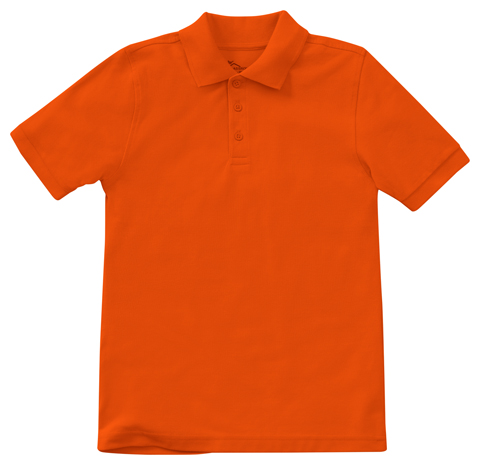 Classroom Child's Unisex Youth Unisex Short Sleeve Pique Polo Orange