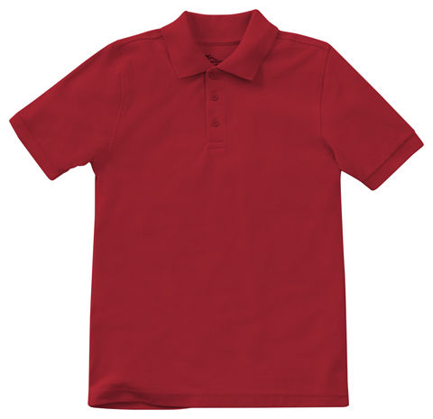 Classroom Unisex Adult Unisex Short Sleeve Pique Polo Red