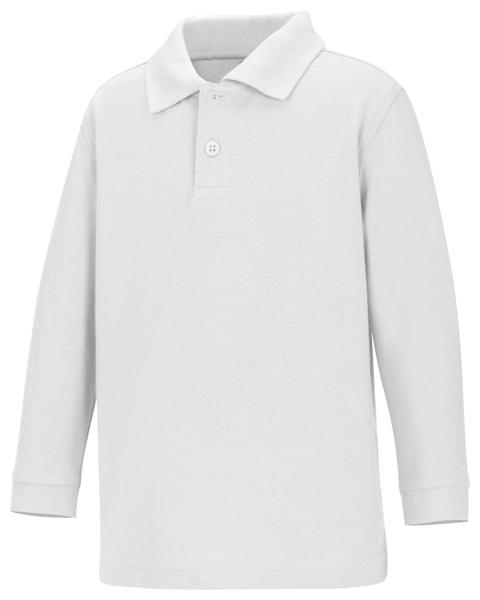 Classroom Uniforms Classroom Preschool Preschool Unisex LS Pique Polo White