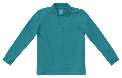 Photograph of Youth Unisex Long Sleeve Pique Polo