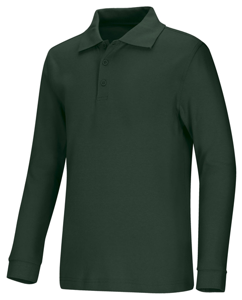 Classroom Uniforms Classroom Child's Unisex Youth Unisex Long Sleeve Interlock Polo Green