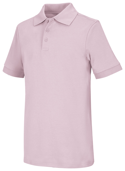 Classroom Uniforms Classroom Child's Unisex Youth Unisex Short Sleeve Interlock Polo Pink