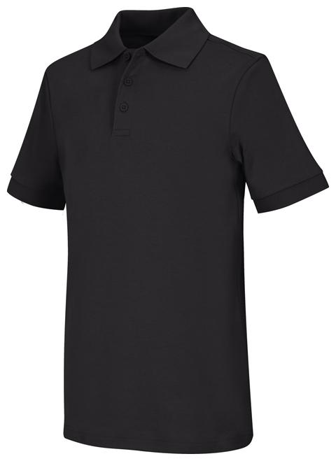 Classroom Unisex Adult Unisex Short Sleeve Interlock Polo Black