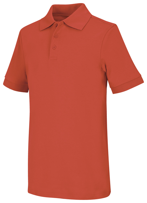 Classroom Unisex Adult Unisex Short Sleeve Interlock Polo Orange