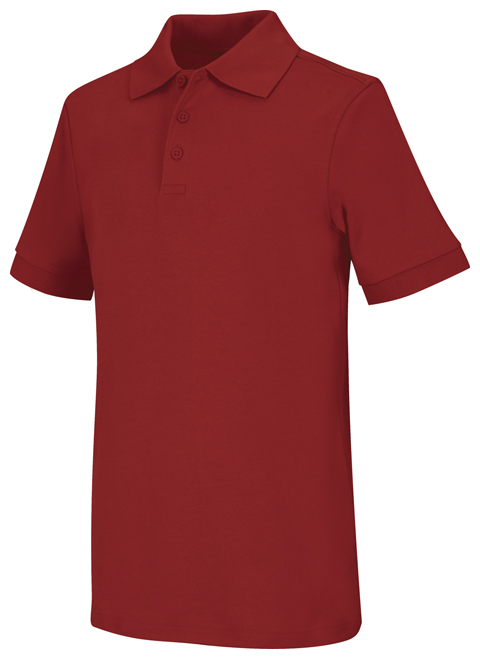 Classroom Unisex Adult Unisex Short Sleeve Interlock Polo Red