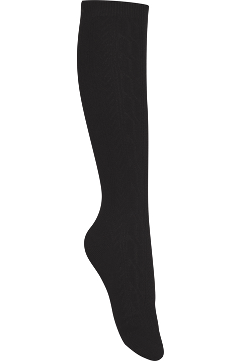 Classroom Girl Girls/Juniors Cable Knee Hi Socks 3 PK Black