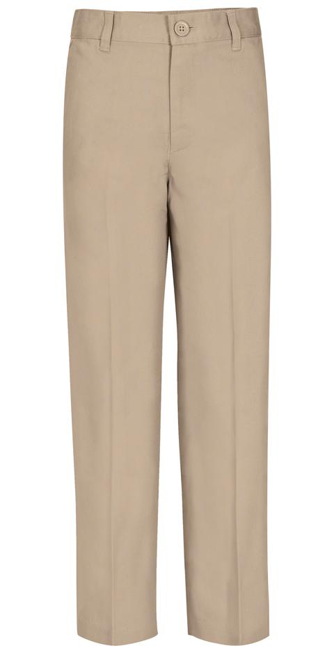Real School Uniforms Men Men's Flat Front Pant Khaki