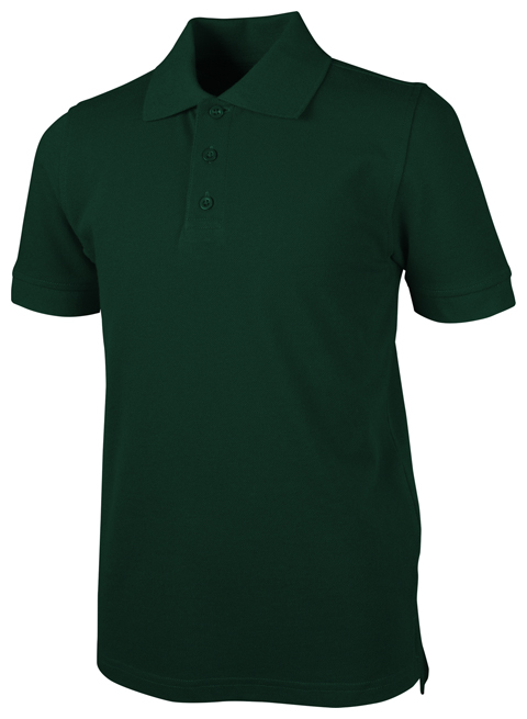 Real School Child Unisex Short Sleeve Pique Polo Hunter