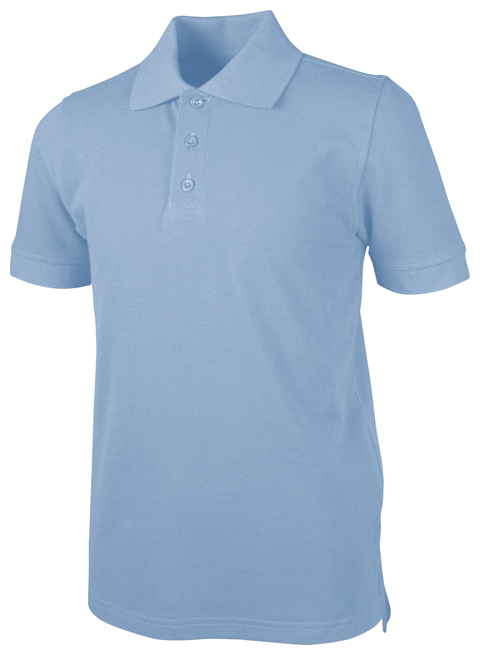 Classroom Child's Unisex Unisex Youth S/S Pique Polo Blue