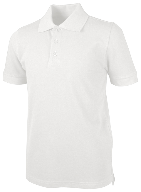 Classroom Child's Unisex Unisex Youth S/S Pique Polo White