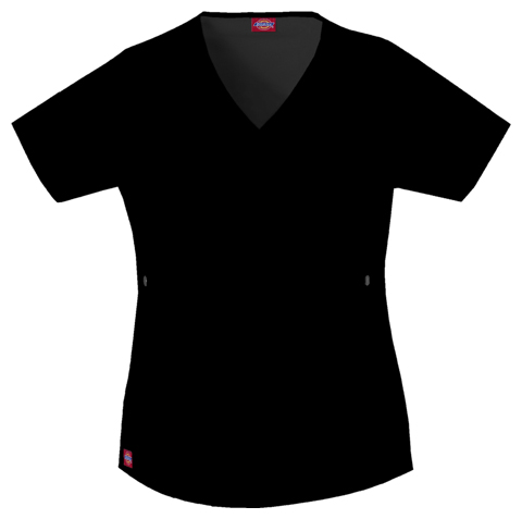 Dickies Gen Flex Women's Mock Wrap Top Black