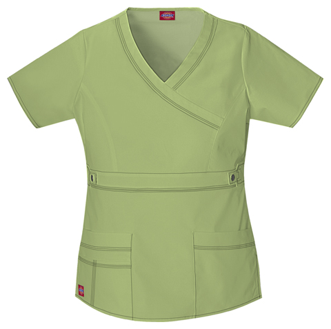 Gen Flex Women's Mock Wrap Top Green