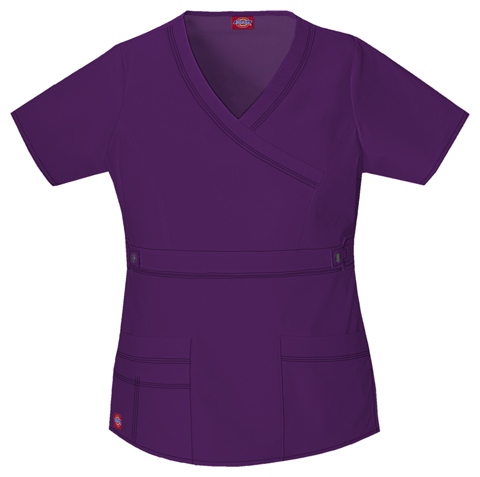 Dickies Gen Flex Women's Mock Wrap Top Purple
