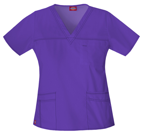 Dickies Dickies Gen Flex Women's V-Neck Top Purple