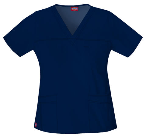 Dickies Gen Flex Women's V-Neck Top Blue