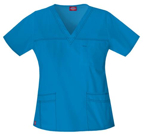 Dickies Dickies Gen Flex Women's V-Neck Top Blue