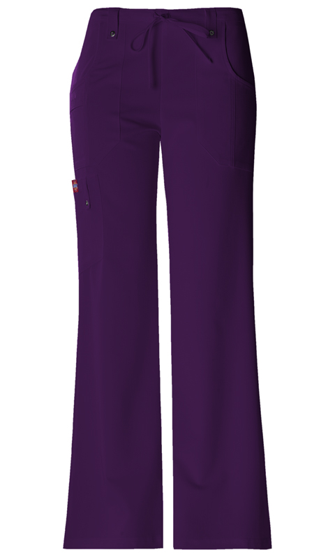 Dickies Xtreme Stretch Women's Mid Rise Drawstring Cargo Pant Purple