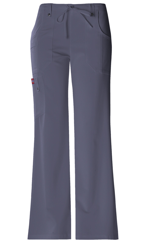 Dickies Xtreme Stretch Women's Mid Rise Drawstring Cargo Pant Grey
