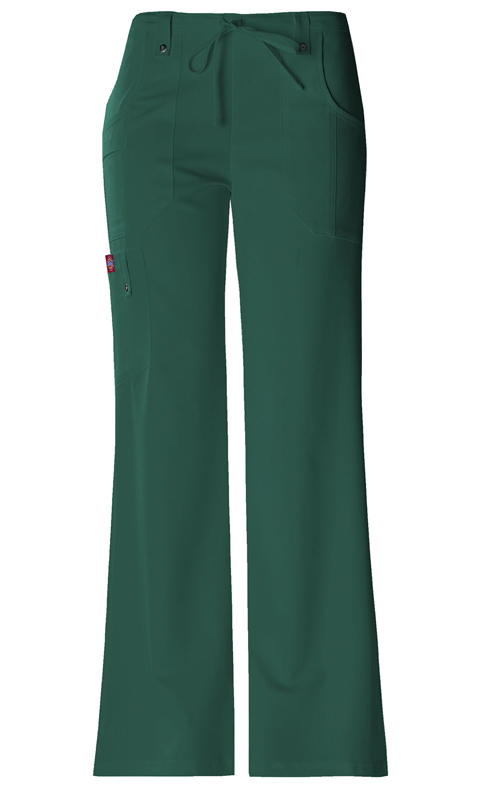 Dickies Xtreme Stretch Women's Mid Rise Drawstring Cargo Pant Green