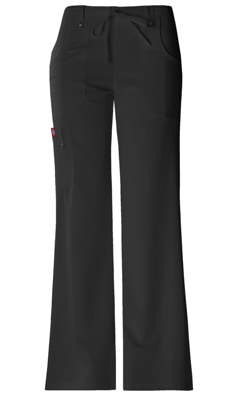 Dickies Xtreme Stretch Women's Mid Rise Drawstring Cargo Pant Black
