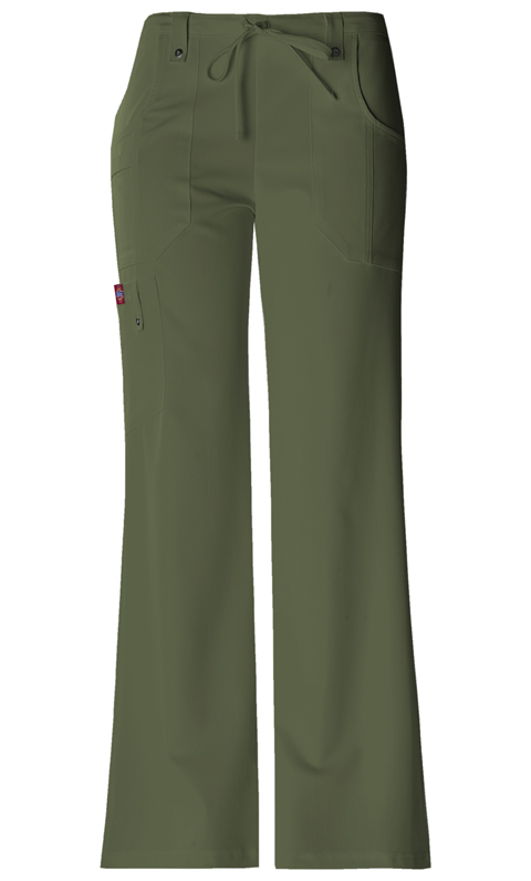 Dickies Xtreme Stretch Mid Rise Drawstring Cargo Pant in Olive