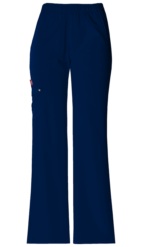Dickies Xtreme Stretch Women's Mid Rise Pull-On Cargo Pant Blue