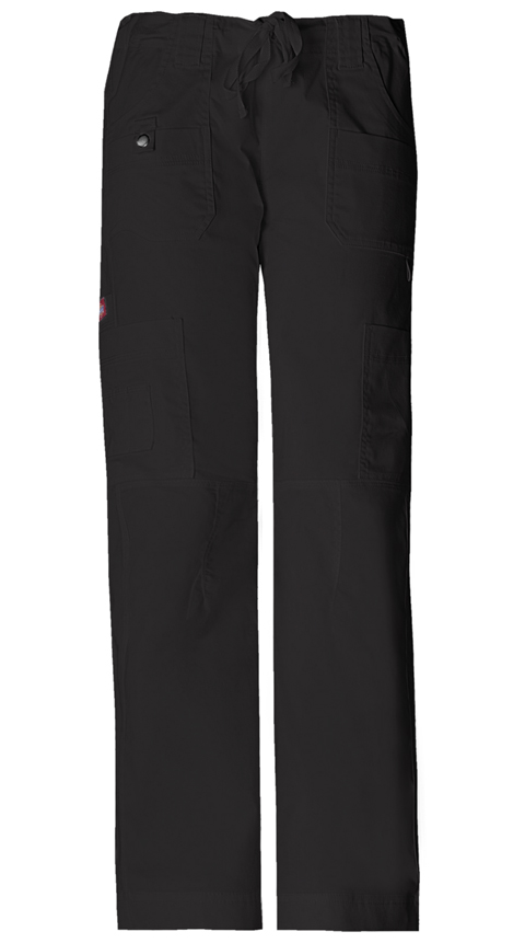 Gen Flex Women's Low Rise Drawstring Cargo Pant Black