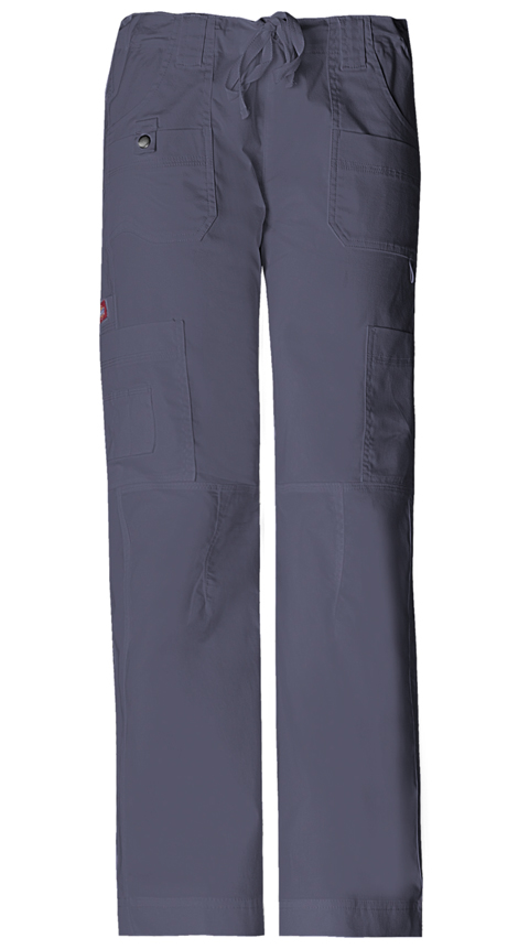 Dickies Gen Flex Women's Low Rise Drawstring Cargo Pant Grey