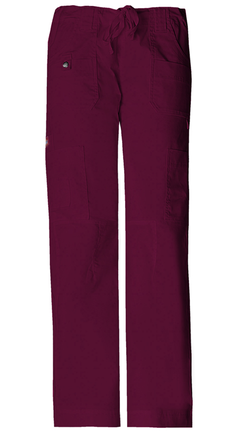 Gen Flex Women's Low Rise Drawstring Cargo Pant Red