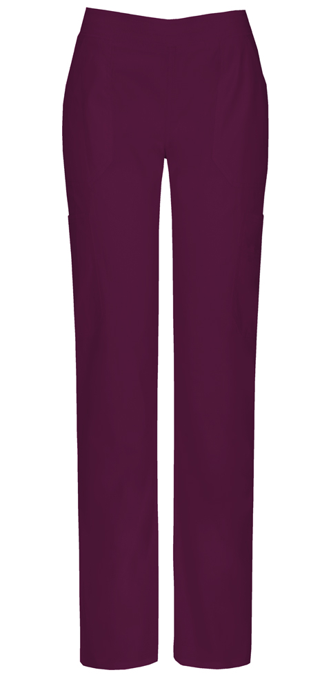 Dickies EDS Signature Stretch Women's Mid Rise Moderate Flare Leg Pull-On Pant Red
