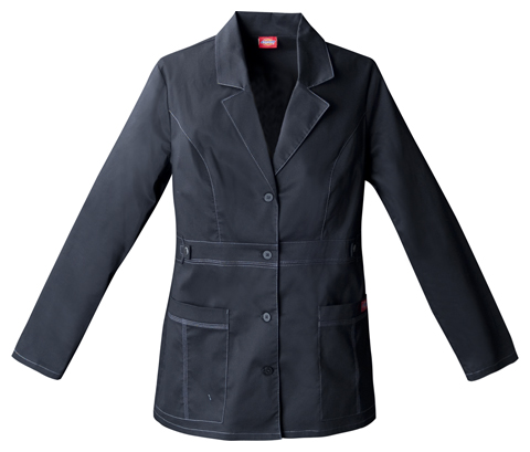"Dickies Gen Flex Women's 28"" ""Youtility"" Lab Coat Black"