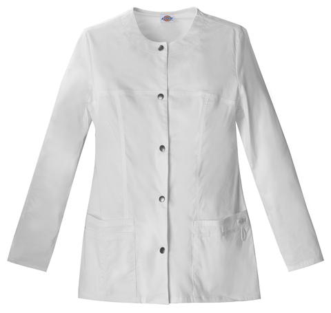 Dickies Gen Flex Women's Snap Front Warm-Up Jacket White