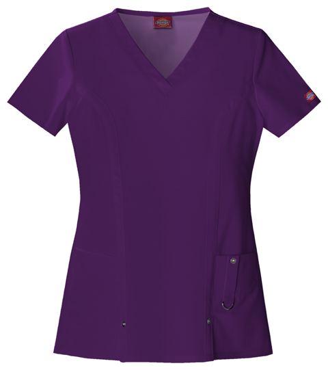 Dickies Xtreme Stretch Women's V-Neck Top Purple