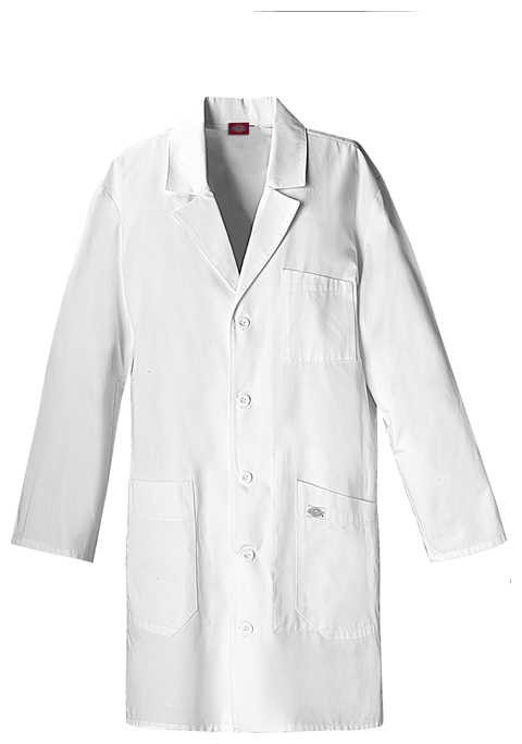 "Dickies Dickies Prof. Whites Unisex 37"" Unisex Lab Coat White"