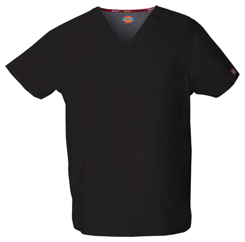 Dickies EDS Signature Unisex V-Neck Top in Black