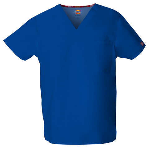 Dickies EDS Signature Unisex V-Neck Top in Galaxy Blue