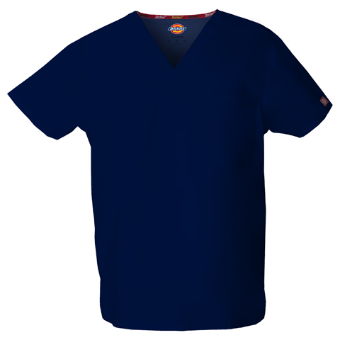 Dickies EDS Signature Unisex V-Neck Top in Navy